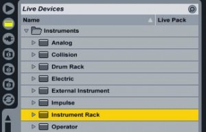 Ableton insntrument rack device